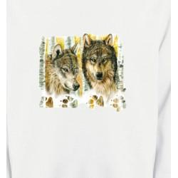 Sweatshirts Animaux de la nature Loups dans la forêt (O)