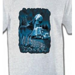 T-Shirts Animaux de la nature Loup Camion (N)