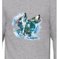 Sweatshirts Animaux de la nature Loups dans la neige (G)