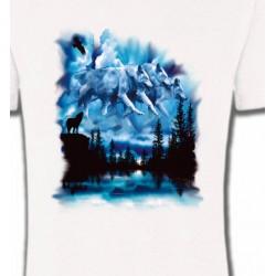 T-Shirts Animaux de la nature Loups dans le ciel (I)