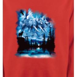 Sweatshirts Animaux de la nature Loups dans le ciel (I)