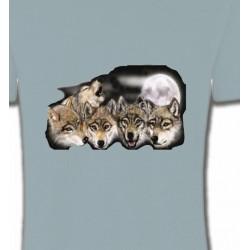 T-Shirts Animaux de la nature Têtes de loups en groupe (K)