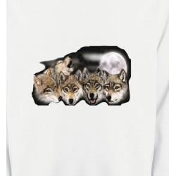 Sweatshirts Loups Têtes de loups en groupe (K)