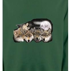 Sweatshirts Animaux de la nature Têtes de loups en groupe (K)