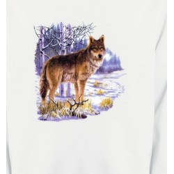 Sweatshirts Animaux de la nature Loup en hiver (U)
