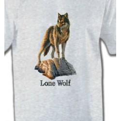 T-Shirts Animaux de la nature Loup aux aguets (M)