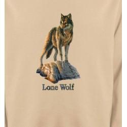 Sweatshirts Animaux de la nature Loup aux aguets (M)