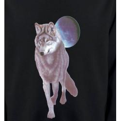 Sweatshirts Loups Loup devant la pleine lune