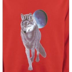 Sweatshirts Animaux de la nature Loup devant la pleine lune