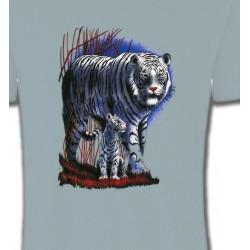 T-Shirts Animaux de la nature Tigres Blancs La nuit (M)