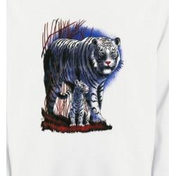 Sweatshirts Animaux de la nature Tigres Blancs La nuit (M)