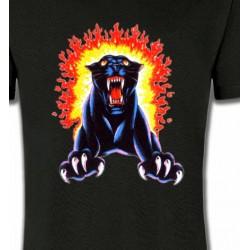 T-Shirts Animaux de la nature Panthère noire
