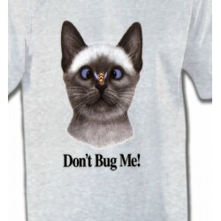 T-Shirts T-Shirts Col Rond Enfants Chat Don't Bug Me Humour