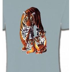 T-Shirts Animaux de la nature Maman tigre et ses 3 petits