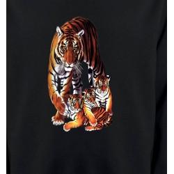 Sweatshirts Animaux de la nature Maman tigre et ses 3 petits