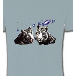 T-Shirts Animaux de la nature Deux tigres blancs (Y)