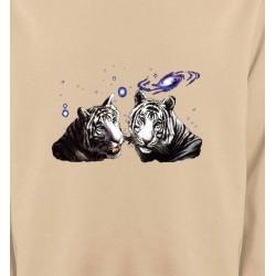 Sweatshirts Animaux de la nature Deux tigres blancs (Y)