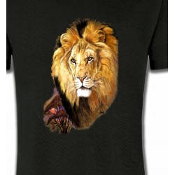 T-Shirts Animaux de la nature Tête de Lion