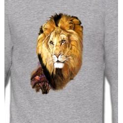 Sweatshirts Animaux de la nature Tête de Lion