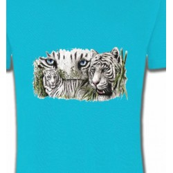 T-Shirts Animaux de la nature Tigres blancs (D)