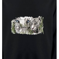 Sweatshirts Animaux de la nature Tigres blancs (D)