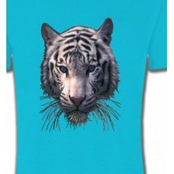 T-Shirts Animaux de la nature Tête de tigre blanc (X)