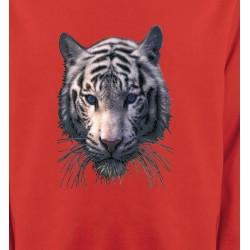 Sweatshirts Animaux de la nature Tête de tigre blanc (X)