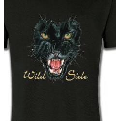 T-Shirts Animaux de la nature Tigre Noir (G)