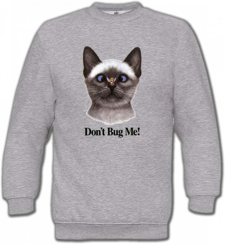 Sweatshirts Unisexe Races de chats Chat Don't Bug Me Humour