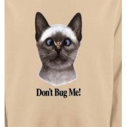 Sweatshirts Sweatshirts Unisexe Chat Don't Bug Me Humour