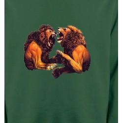 Sweatshirts Animaux de la nature Lions féroces (C)