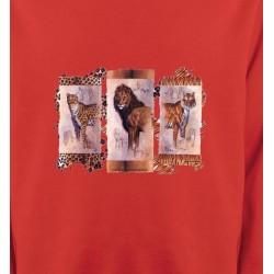 Sweatshirts Animaux de la nature Safari lion, tigre, jaguar (A)