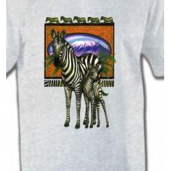 T-Shirts Animaux de la nature Un zèbre et son petit