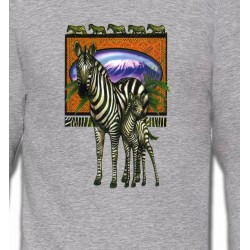 Sweatshirts Animaux de la nature Un zèbre et son petit