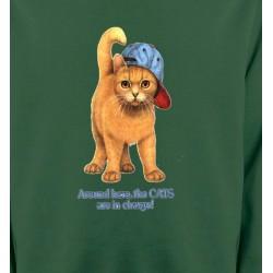 Sweatshirts Sweatshirts Enfants Chat roux Humour
