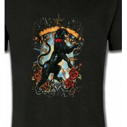T-Shirts Animaux de la nature Panthère noir