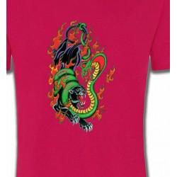T-Shirts Animaux de la nature Tigre noir et Cobra