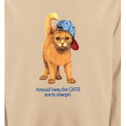 Sweatshirts Sweatshirts Unisexe Chat roux Humour