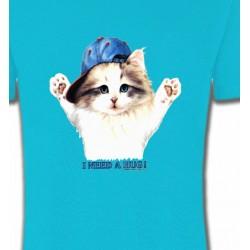 T-Shirts T-Shirts Col Rond Enfants Chaton Ragdoll (Z2)