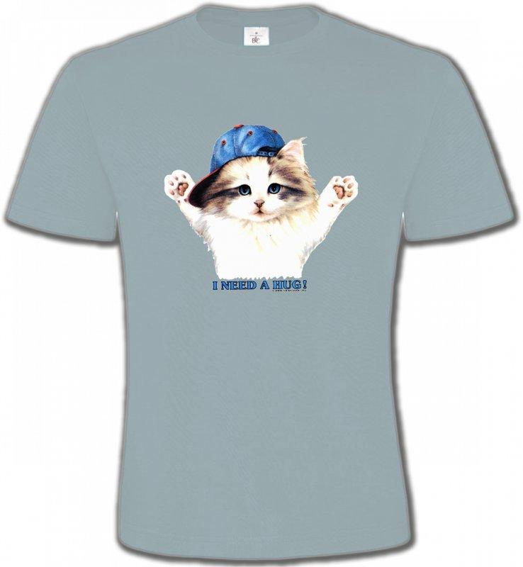 T-Shirts Col Rond UnisexeRaces de chatsChaton Ragdoll (Z2)