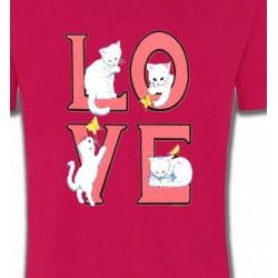 T-Shirts Races de chats Chat Love (A3)