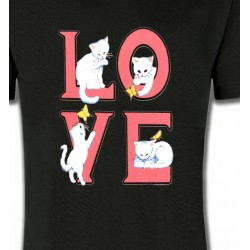 T-Shirts Fêtes  Chat Love (A3)