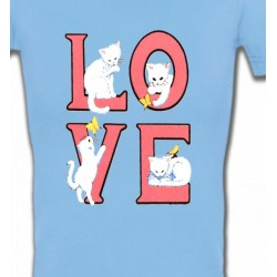 T-Shirts Races de chats Chat Love (A3)