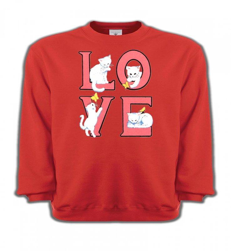 Sweatshirts EnfantsRaces de chatsChat Love (A3)