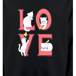 Sweatshirts Races de chats Chat Love (A3)