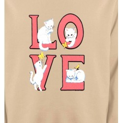 Sweatshirts Fêtes et occasions Chat Love (A3)