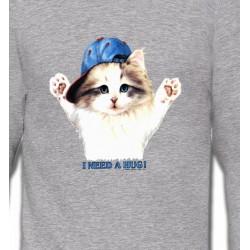 Sweatshirts Sweatshirts Unisexe Chaton Ragdoll (Z2)