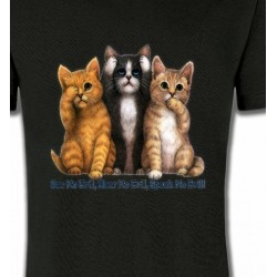 T-Shirts T-Shirts Col Rond Enfants Chatons humour (I)