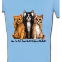 T-Shirts T-Shirts Col V Femmes Chatons humour (I)