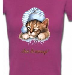 T-Shirts T-Shirts Col V Femmes Chaton Dodo (E)